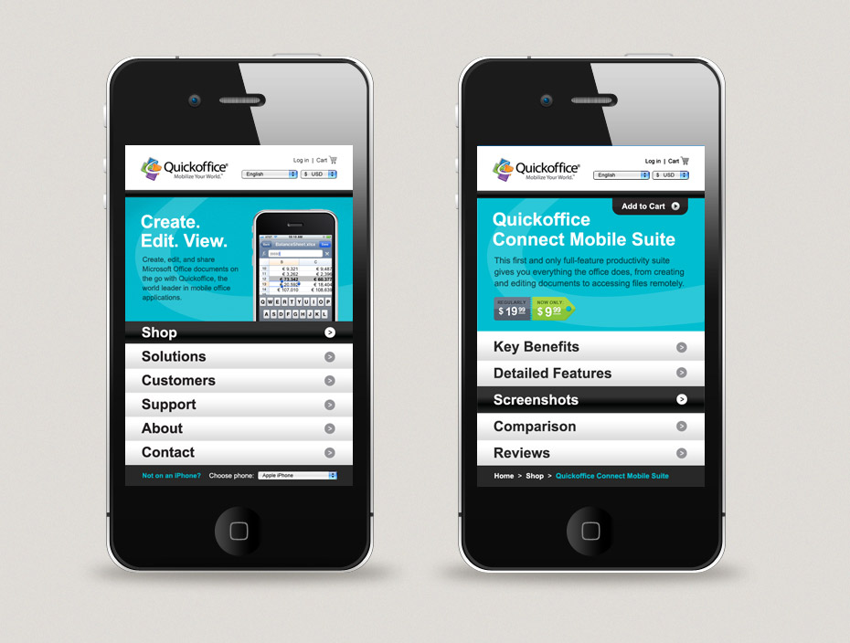 Quickoffice Mobile Website