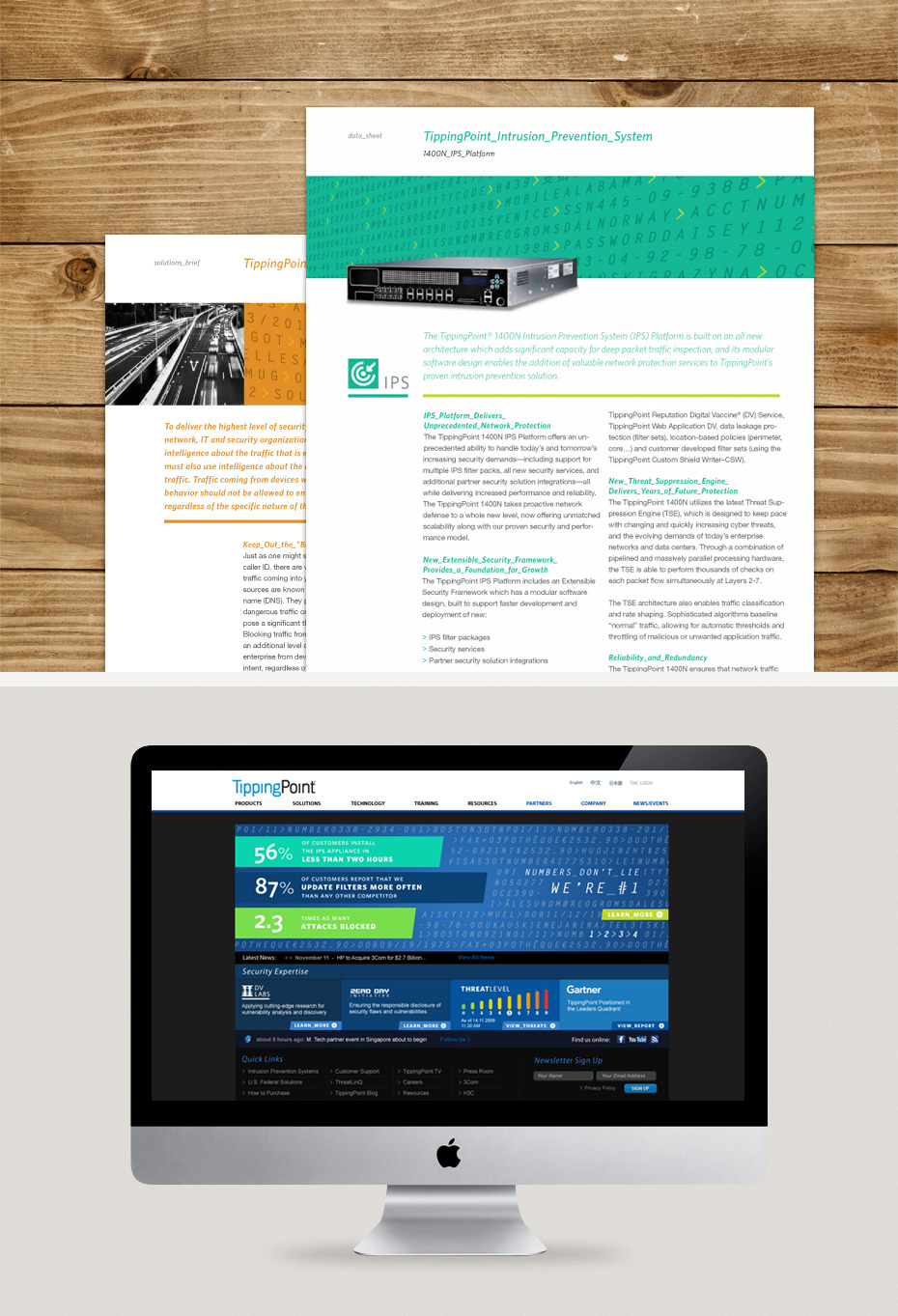 TippingPoint Collateral & Microsite